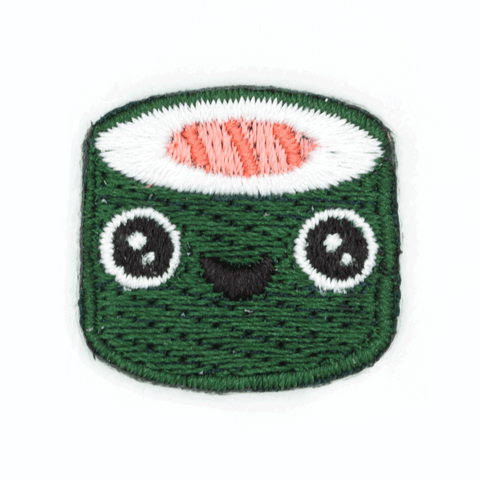 Sushi Face Sticker Patch