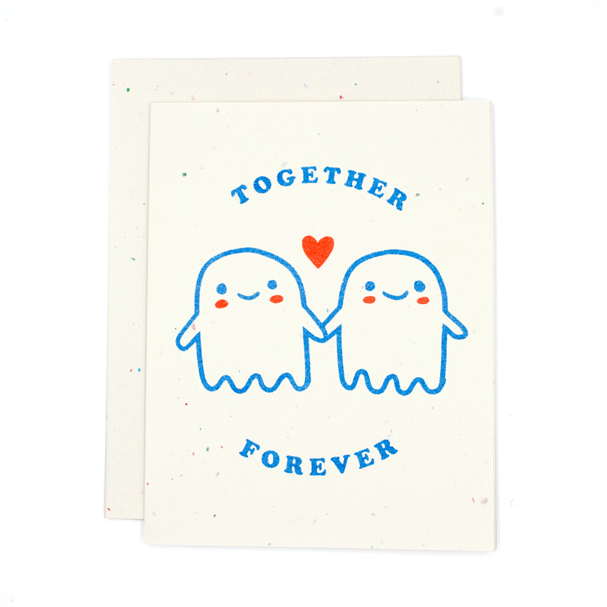 Together Forever Ghosts Risograph Card