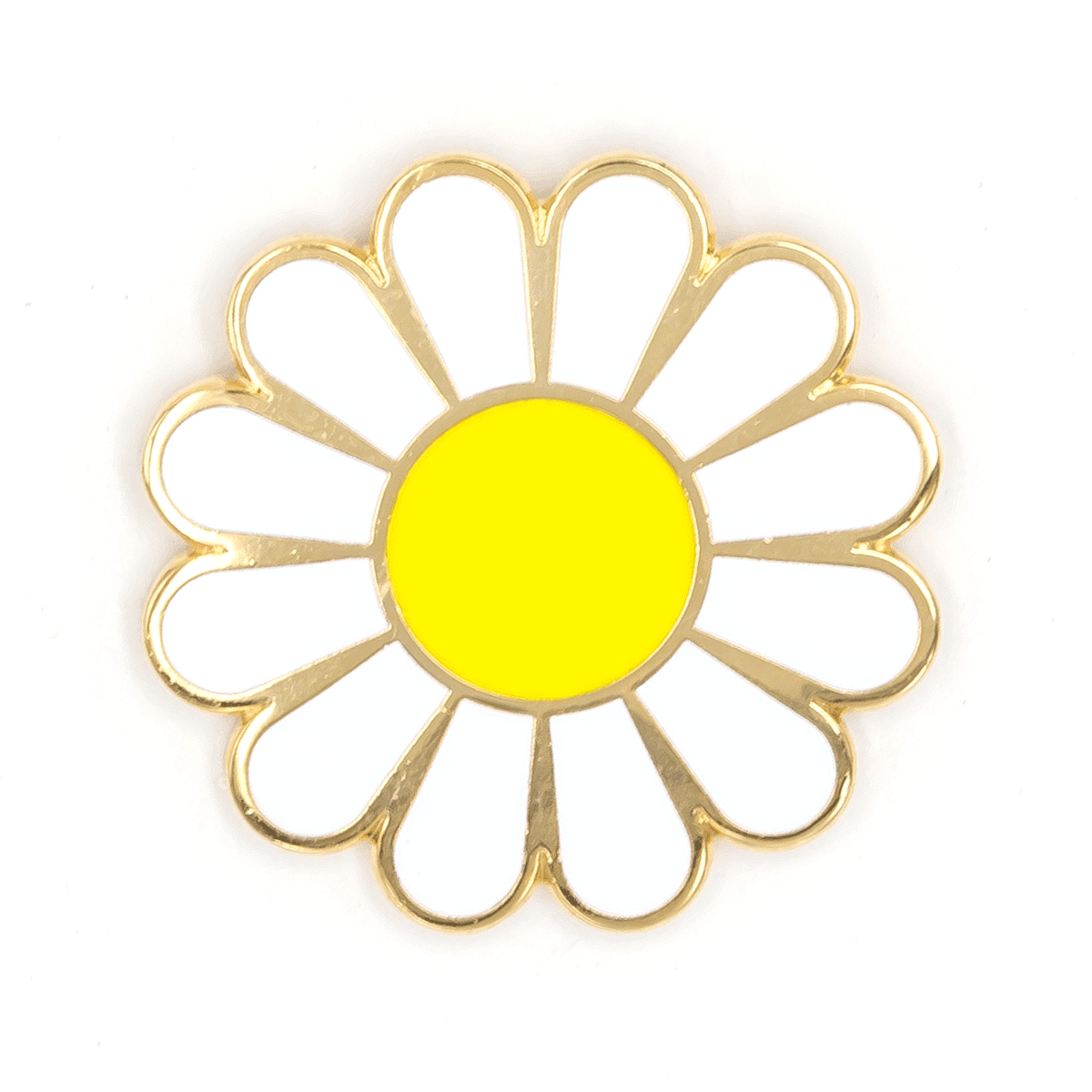White Daisy Pin