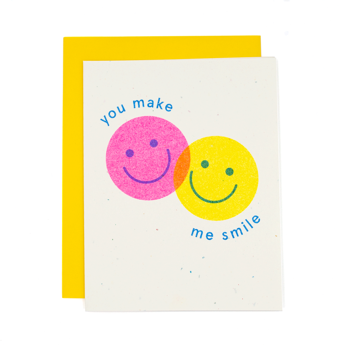 You Make Me Smile Risograph Card