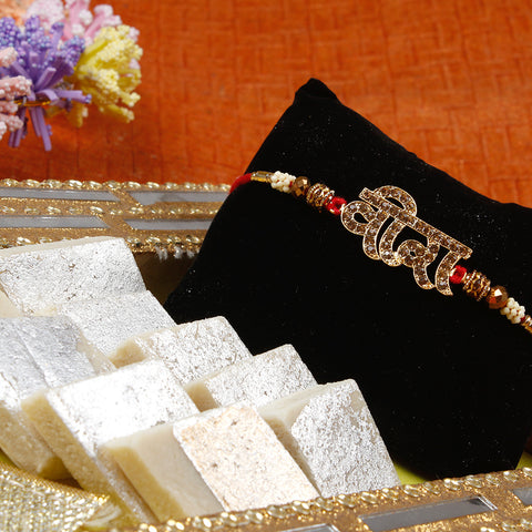 Rakhi with sweets to uk