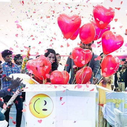 balloon surprise box online india, surprise balloon box delivery
