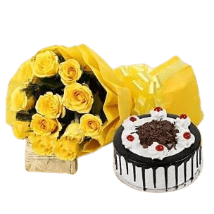 Black Forest and Yellow Roses