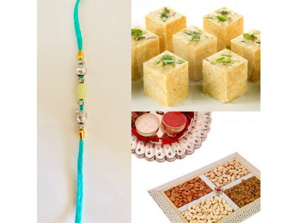 Rakhi Combo with Ferrero rocher and Dry fruit mix 250 grams - USA