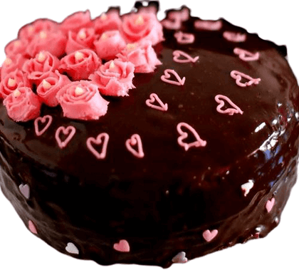 Chocolate Cake Red Roses topping