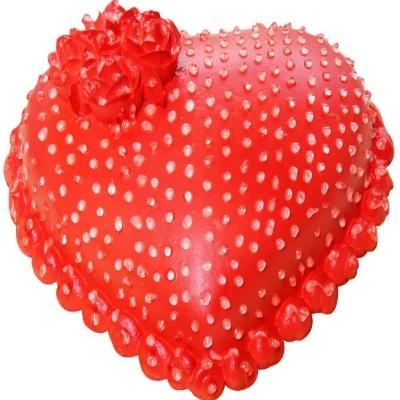 Strawberry heart shaped valentine day cake design order online - Expressluv.in