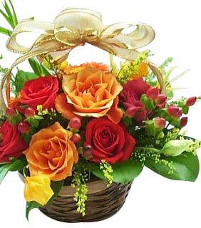 Multi Roses Basket