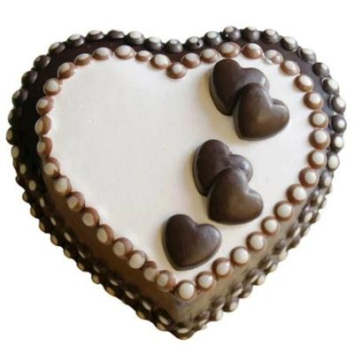 Heart Chocolate Cake, valentine chocolate cake, heart shaped valentine's day chocolate cake online  - Expressluv.in