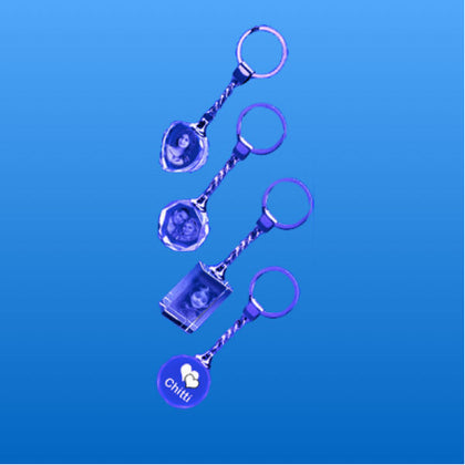 Crystal Key Chain 2D  - Expressluv.in