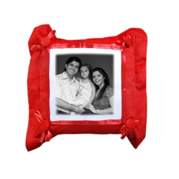 Red Square Pillow  - Expressluv.in