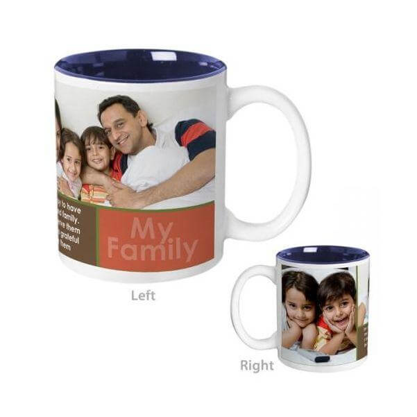 My Family Mug Blue Color