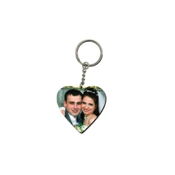 Heart Single Sided Key Chain