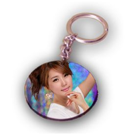 Round Single Sided Key Chain  - Expressluv.in