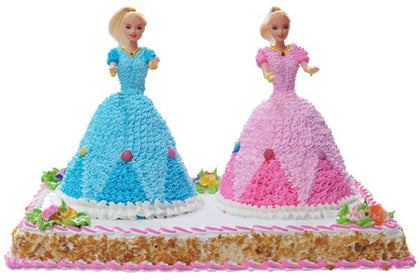 Twin Barbie Cake  - Expressluv.in
