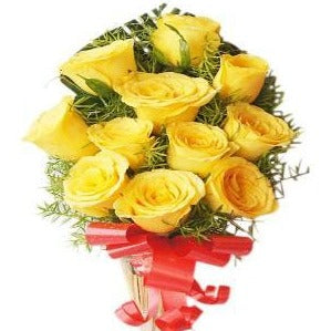 order yellow roses bunch online with free delivery