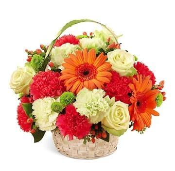 Basket with Mix Flowers