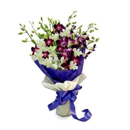 Lavender and White Orchids Bunch