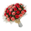 Red and Pink Carnations Mixed Bunch  - Expressluv.in