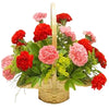 Red and Pink Carnations Basket  - Expressluv.in