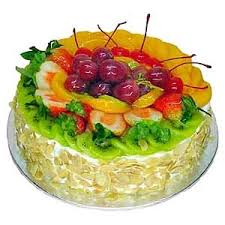 Black Forest Fruit Topping  round shaped cake for every ocassion- Expressluv.in