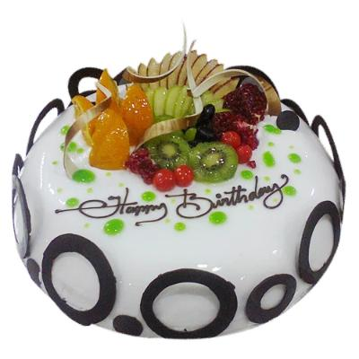 White Beauty Fruit Cake  - Expressluv.in