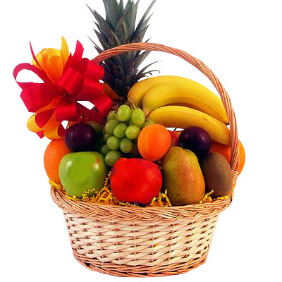 A basket full of fruits to send to your loved ones