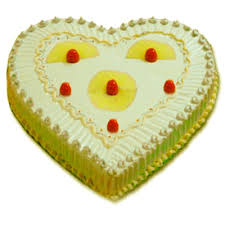 Pineapple Cake in Heart Design  - Expressluv.in