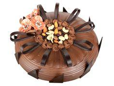 Chocolate Spongy Cake, delicious chocolate cake with dry fruits, Chocolate Dry fruit topping  - Expressluv.in