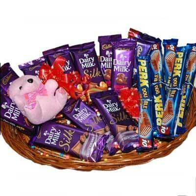 Chocolate Basket with Teddy