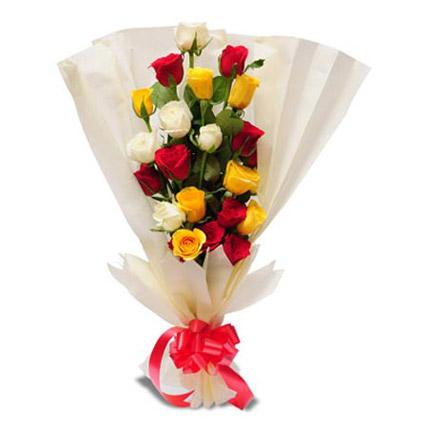 Order Mixeed Roses bunch online with free shipping