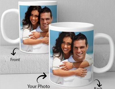 White Ceramic Mug  - Expressluv.in