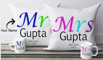 Personalized Pillow with Names  - Expressluv.in