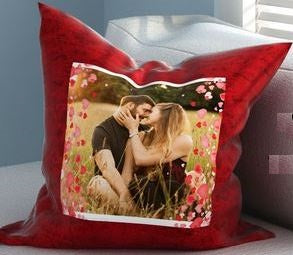Satin Red Pillow  - Expressluv.in