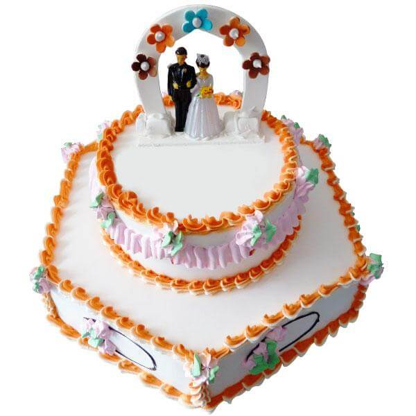 Cute Couple Cake