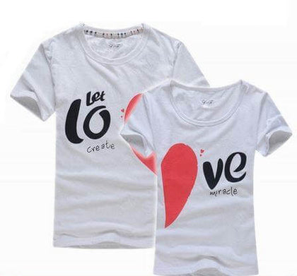Let's Love Couple Tee Shirt