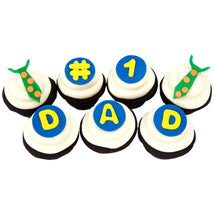 For Dad Cup Cakes, best cup for no. 1 dad online deliveyr  - Expressluv.in