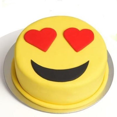 Heart Shaped Eye,, emoji heart eyes cake,  heart eyes emoji cake, order cakes online   - Expressluv.in