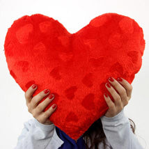Red Color Heart Pillow  - Expressluv.in