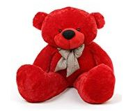 teddy bear red valentine day, cute teddy bear valentines day, red colored teddy bear  - Expressluv.in