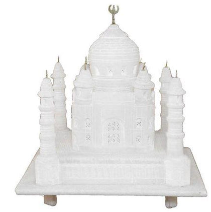 White colored taj mahal to gift someone, Small home decor taj mahal for gift  - Expressluv.in