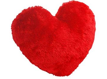 Heart Pillow in Red, red colored heart shaped pillow to gift, red heart cushion - Expressluv.in