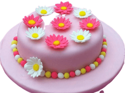 Cake with Daisy Flowers