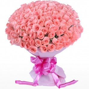 Giant Pink Roses Bunch  - Expressluv.in