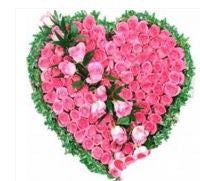 Heartly Wishes with Pink Roses  - Expressluv.in