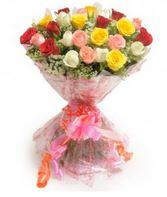 Elegant Mix of Roses, best roses bunch with decorated outer area  - Expressluv.in