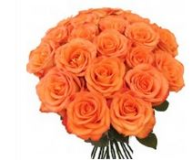 bunch of beautiful orange color flowers with beautiful leaves to gift someone  - Expressluv.in