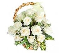 White Roses Basket  - Expressluv.in