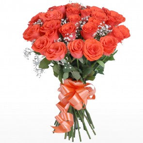 Perfect Bunch with Orange Roses  - Expressluv.in