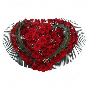 Beautiful Heart shaped Roses bouquet for Special on valentine day - Expressluv.in