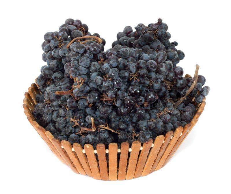 Black Grapes Basket